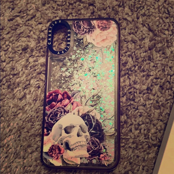 Casetify skull iPhone X case with sparkles
